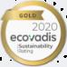 Gold 2020 Ecovadis Sustainability Rating