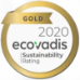 Gold 2020 Ecovadis Sustainability Rating